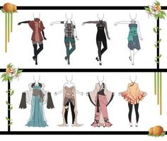 Adoptables-Outfit Set 12 CLOSED by HardyDytonia on DeviantArt