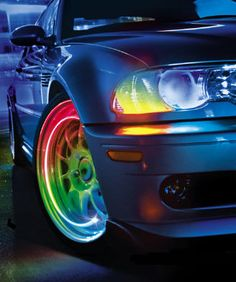 neon led wheel lights car wheel tyre valve caps led shock sensing car mood lighting