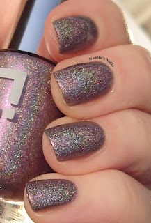 Holographic purple nail color (Colour Alike #118)