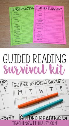 This Guided Reading Survival Kit is ideal for kindergarten-2nd grade teachers who work with readers at level A-S. | guided reading elementary, first grade guided reading, progress monitoring pages, guided reading groups, guided reading first grade, guided reading activities, guided reading ideas, running record forms, decoding and fluency prompts, parent resources for guided reading