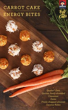 Quaker® Carrot Cake Energy Bites are a simple snack with the right balance of texture and festive flavor in every bite!