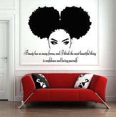 Tribal African Woman Decal Quote Beautiful Afro Girl Home Decor Wall Art Disney Wall Decals, Girls Wall Stickers, Wall Stickers Quotes, Bathroom Wall Decals, Name Wall Decals, Vinyl Wall Decals, Beautiful African Women, African Girl, Tribal African
