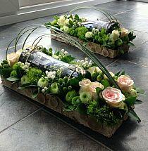 Wine Bottle Surrounded in a Floral Arrangement Arte Floral, Deco Floral, Floral Design, Ikebana, Table Arrangements, Floral Arrangements, Creative Flower Arrangements, Fresh Flowers, Beautiful Flowers