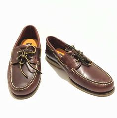 low priced cb195 10f8a Timberland Men s 2-Eye Boat Shoes Brown Leather Deck Loafer 25077 sz 11.5  EUC