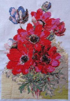 Anemones cross stitch kit or pattern   Yiotas XStitch