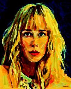 "Saatchi Art Artist ACQUA LUNA; Painting, ""56- Primer plano. Rubia."" #art"