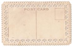 Free ephemera ~ post card back with a decorative, scalloped border.