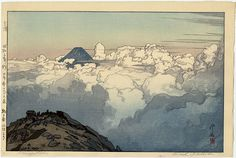 Hiroshi Yoshida was a Japanese painter and woodblock print maker, noted for his absolutely breathtaking landscape prints. The Southern Japan Alps Series, From the Summit of Komagatake by Yoshida Hiroshi / 日本南アルプス集 駒ケ岳山頂より 吉田博 Japan Illustration, Landscape Prints, Landscape Paintings, Landscape Drawings, Hiroshi Yoshida, Art Occidental, Art Japonais, Japanese Painting, Japanese Artwork