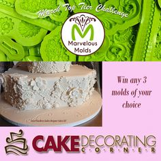 March Top Tier Challenge - add any cake, cupcake, cookie or cake decoration for a chance to win.