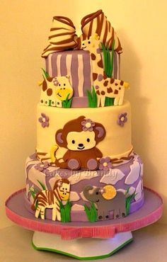 Baby shower Cake to match the cocalo jacana baby bedding