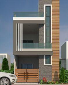 House Outer Design, Single Floor House Design, Modern Small House Design, House Front Design, Small House Exteriors, Modern House Facades, 2 Storey House Design, Bungalow House Design, Narrow House Designs