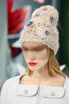 crochet knit unlimited  CHANEL COUTURE Spring-Summer 2015 Hats Chanel 2015 cbc89cf67d83