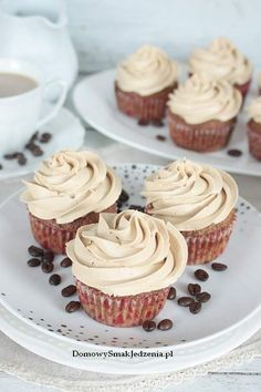 muffinki kawowe   Domowy Smak Jedzenia .pl Cap Cake, Mini Cupcakes, Food And Drink, Dishes, Cooking, Healthy, Sweet, Desserts, Meals