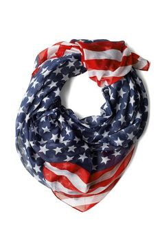 Rock Star-Spangled Scarf. Perfect for Independence Day