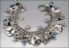 Silver Charm Bracelet Wiccan Jewelry The by BlackberryDesigns, $87.00