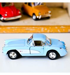 Chevrolet corvette 1957 - voiture jouet mécanique - L'arbre aux Souhaits