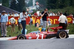 "Jacques Bernard ""Jacky"" Ickx (BEL) (Scuderia Ferrari), Ferrari 312B - Ferrari 001 3,0 Flat-12 (finished 8th)  1970 Belgian Grand Prix, Circuit de Spa-Francorchamps  1970 Belgian Grand Prix, Cir..."