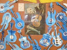 Picasso's blue period guitars