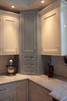 150 gorgeous farmhouse kitchen cabinets makeover ideas (81) #kitchencabinet