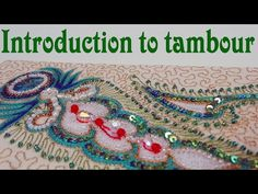 Hand Embroidery - Tambour casting on and off, basic stitch - YouTube