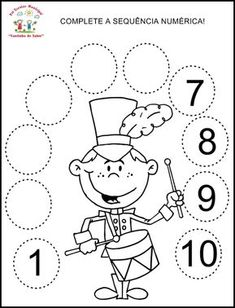 Numbers 1-10- Trace the numbers and fill in the missing