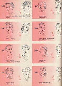 1940s correct hairstyles for the 5 basic types