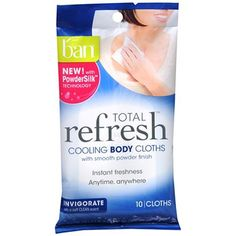 """Celebrity clients: Zendaya, Hailee Steinfeld and Bella Thorne """"It's hard to stay fresh in the heat and humidity and sometimes the layer of deodorant you put on at the beginning of the day just doesn't cut it. These handy, deodorizing body cloths are great for discreetly keeping in your purse before a dinner date, party, or—as in the case for many of my clients—the red carpet. The cooling sensation not only feels great, but also helps calm your skin and eliminate stress."""" Ban Total Refresh…"""