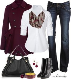 """""""Berry Cool Weather"""" by archimedes16 on Polyvore"""