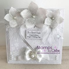 Beautiful! Wedding Anniversary Cards, Wedding Cards, Flower Cards, Paper Flowers, Congratulations On Your Wedding Day, Chloes Creative Cards, Stamps By Chloe, Christmas Cards 2018, Stamping Up