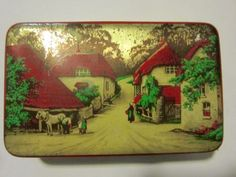 Vintage-Blue-Bird-Toffee-Tin-Harry-Vincent-Ltd-England-Take-the-Home-Sweet-Home