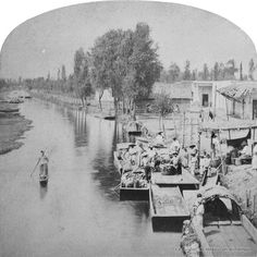 Canal de la Viga 1873. Mexico City, Cancun, Old Pictures, Historical Photos, Vignettes, Art History, Beautiful Pictures, Painting, Universe