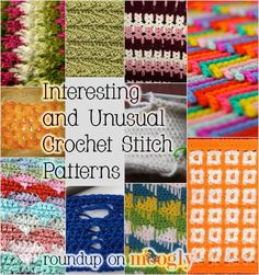 Interesting and Unusual Crochet Stitch Patterns - 10 free tutorials!