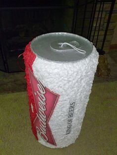 Beer can pinata by PinataVille on Etsy, $100.00