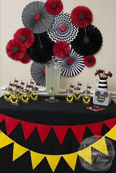 You have to see this Mickey and Minnie Mouse birthday party! See more party ideas at CatchMyParty.com!