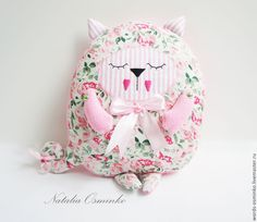 Купить Подушка Кот (разные цвета) - ярко-зеленый, кот-сплюшка, подушка кот, кот