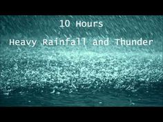 ▶ 10 Hours Heavy Rainfall with Thunder Ambient Sleep Sounds la lluvia del sueño tormenta Thunderstorm