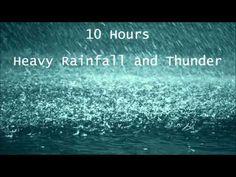 10 Hours Heavy Rainfall with Thunder Ambient Sleep Sounds la lluvia del sueño tormenta Thunderstorm