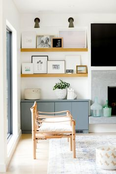 Built-in next to fireplace | Studio McGee