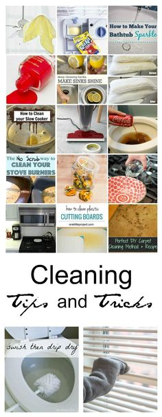 The BEST cleaning tips and tricks! Simplify your life by adding a few of these most popular cleaning tricks to your routine.