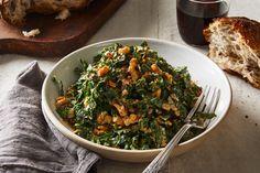 Lacinato Kale & Mint Salad With Spicy Peanut Dressing Recipe on Food52, a recipe on Food52 Fresh Garlic, Fresh Ginger, Fresh Mint, Garlic Minced, Kale Recipes, Cooking Recipes, Food52 Recipes, Vegetarian Cooking, Salads