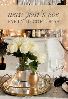 Ring in the New Year with your family and friends in true style with these New Year's Eve Party Decor Ideas from Frog Prince Paperie! Toast to 2015 with a shimmery, sparkly celebration your party guests will love.