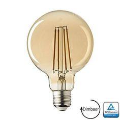 E27 LED lamp Filament Rustique Globe 125mm Dimbaar 3.6 Watt