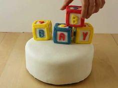 Alphabet Blocks gâteau de douche how to
