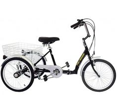 "Tri-Rider 20"" Folding Adult 6 Speed Tricycle"