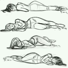 Laying down drawing poses.