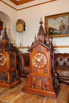 German and Austrian Vintage Clocks are masterpieces of workmanship.