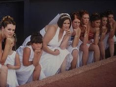 Baseball bridesmaid photo