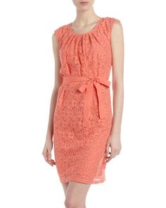 Belted Eyelet Dress, Grapefruit by Neiman Marcus at Last Call by Neiman Marcus.