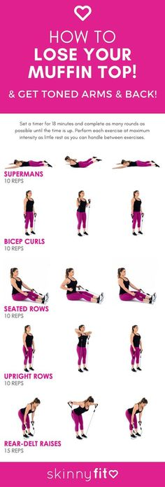 How To Lose Your Muffin Top (+ 5 Exercises To Blast Back Fat!)