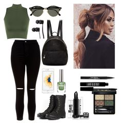 """""""Perry Panther"""" by anjolea on Polyvore featuring WearAll, New Look, Ray-Ban, Gucci, Lord & Berry, Trish McEvoy, STELLA McCARTNEY and Vans"""